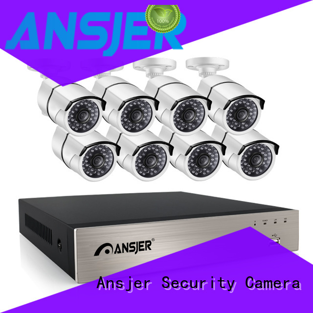 Ansjer Brand camera bullet outdoor 4 channel nvr poe