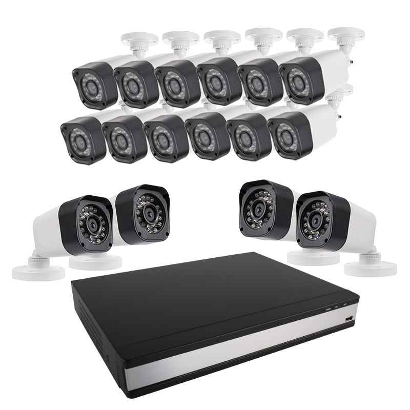 Ansjer 720P 16CH CCTV DVR Kit 1.0MP Weatherproof IP66 Surveillance System Camera