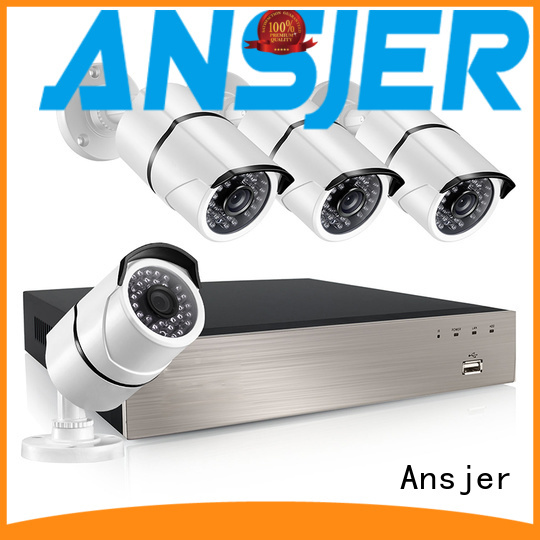 durable Custom security system 1080p poe nvr Ansjer bullet