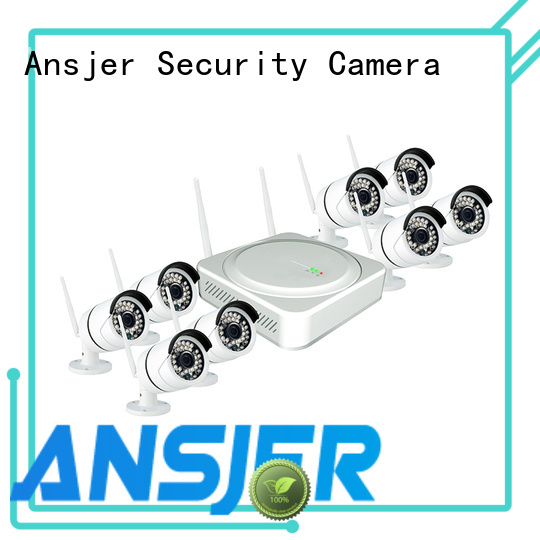 indoor outdoor 8 camera wireless security system ip camera Ansjer company